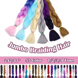 SEGO 24 Inch Ombre Jumbo Braiding Hair Jumbo Braid Hair Extensions Long Jumbo Braids for..