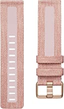 Fitbit Versa Family Accessory Band, Official Fitbit Product, Woven Reflective, Pink, Large