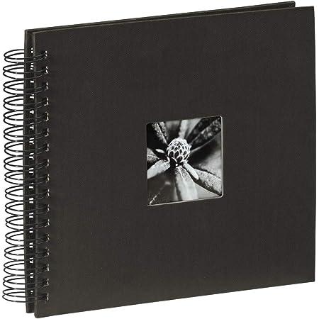 """Hama Album Photo """"Fine Art"""" (format 28 x 24 cm, 50 pages noires, à spirale) Noir"""