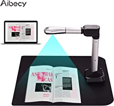 $137 » Aibecy BK51 USB Document Camera Scanner Capture Size A3 HD 16 Mega-Pixels High Speed Scanner with LED Light for ID Cards Passport Books Watermarks Setting PDF Format Export