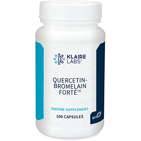 Klaire Labs Quercetin-Bromelain Forte - Immune & Seasonal Support Enzymes with Pancreatic, Proteolytic, Bromelain, Papain Enzymes & Bioflavonoids (100 Capsules)