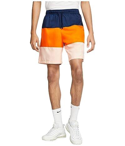 Nike NSW Shorts Woven Novelty (Midnight Navy/Magma Orange/White) Men