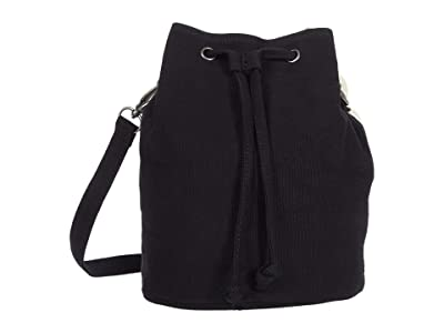 RVCA Split Up Drawstring Purse (Black) Handbags