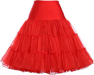 plus size red petticoat skirts