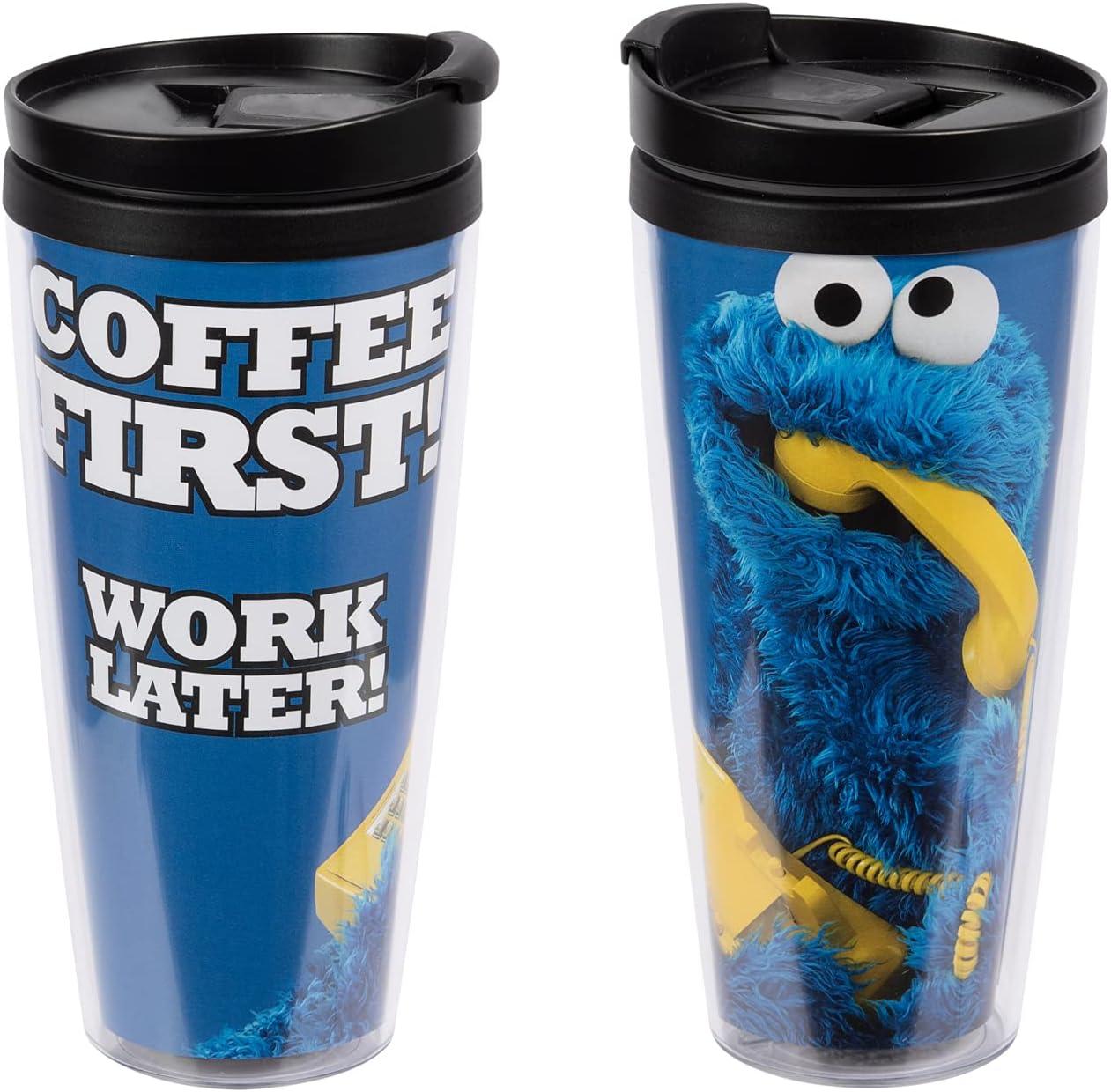 United Labels Vaso térmico del monstruo de las Galletas 250 ml, taza de café 2go