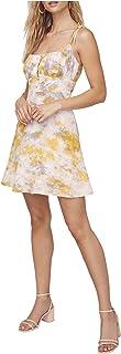 ASTR the label Women's Sleeveless Square Neck MON Cheri Skater Mini Dress