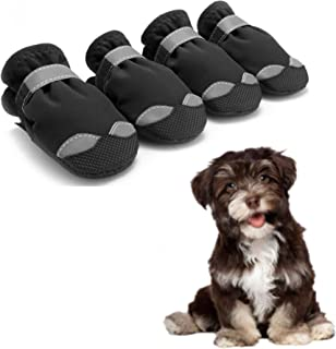 Praised Dog Boots Waterproof Shoes,Dog Outdoor Shoes,Dog Booties,Dog Shoes Perfect for Small Medium Large Dogs,Dog Snow Boots 4PCS
