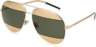 Women CD SPLIT1 59 Rose Gold/Silver Sunglasses 59mm