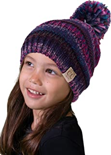 Funky Junque Kids Baby Toddler Cable Knit Children s Pom Winter Hat Beanie e168b866290f