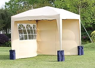 Paroi de Tente de r/éception 2 pcs avec fen/être Tonelle Pavillon Jardin Anthracite 300 x 195 cm Festnight