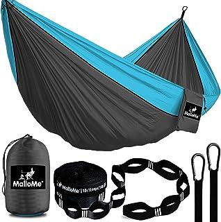 MalloMe Double & Single Portable Camping Hammock – Parachute Lightweight Nylon..
