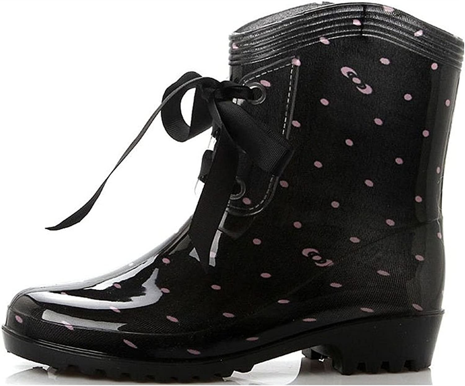 Also Easy Stylish Women Wellies Wedge College Ankle Belt Snow Rain Boots Style
