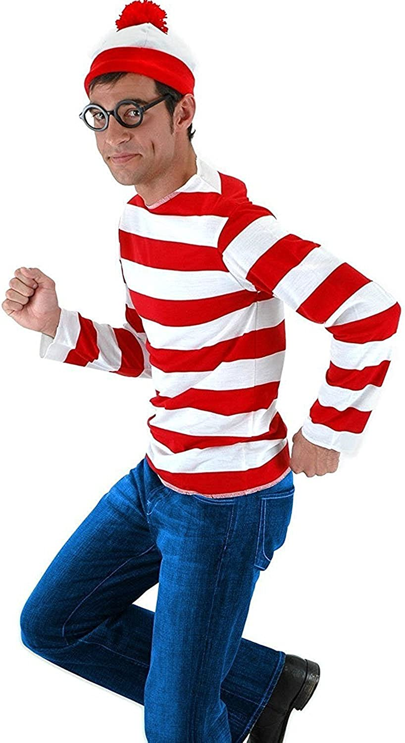 ZHIHONG Halloween Cosplay Ranking TOP13 Shirts Costume White and Red New product Striped