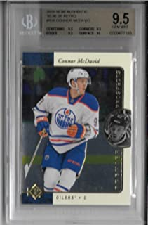 2015-16 Upper Deck SP Authentic CONNOR McDAVID 1995-96 SP Retro #R36 BGS9.5 Gem Mint Rookie