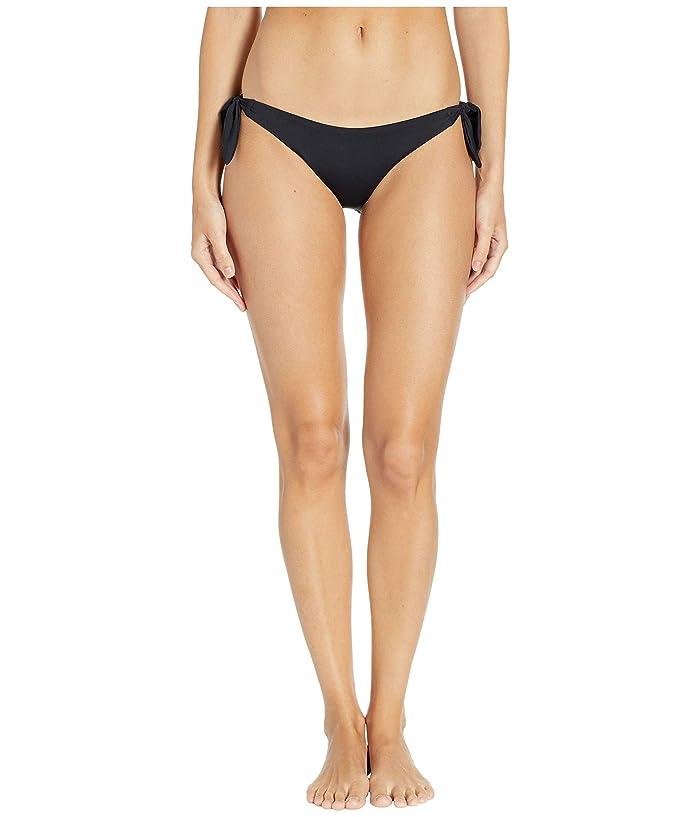 Vitamin A Swimwear Gidget Tie Side Bottoms (Black EcoLux) Women