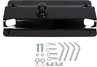 ECOTRIC 5th Fifth Wheel Trailer Gooseneck Hitch Ball Adapter Plate 49080 for Pickup Truck Bed - 25,000 lbs, 2-5/16-Inch Ball