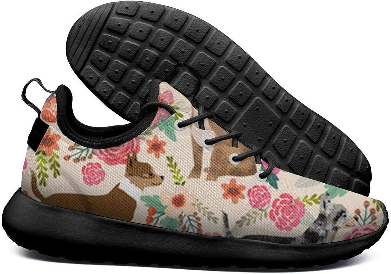 SKULLP Corgi Hawaiian Corgi Dog Black Sneaker shoes for Women Sports Non-Slip Casual shoes