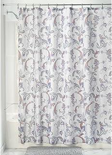 "InterDesign Emma Paisley Fabric Shower Curtain, 72"" x 72"" - Multi-Color, Multi Paisley"