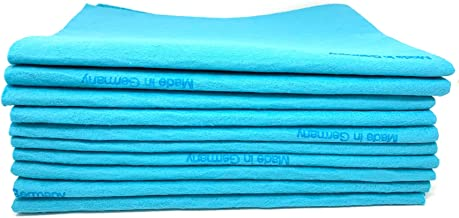 10 Pack Extra Large Original German Shammy Cloths Chamois Towels Super Absorbent for Pets, Parenting Tool Cleaning for Hom...
