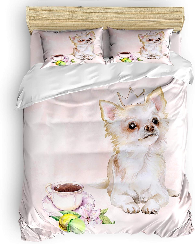 LBHAUSE 4 Pieces Bedding Bed Surprise price Comforter Jacksonville Mall Microfiber Set Soft Sheet