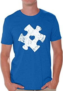 Awkward Styles Autism Puzzle Shirts for Men Autism Awareness Gifts for Him