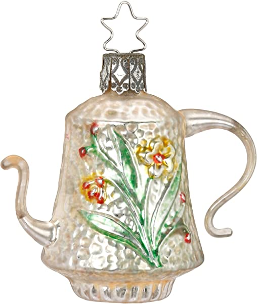 Inge Glas Nostalgic Teapot 1 228 17 German Glass Christmas Ornament