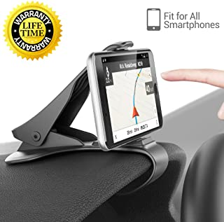 Car Mount, HUD Smart Phone GPS Holder Aolket Universal Cradle Adjustable Non-Slip Holder for Safe Driving for iPhone X / 8 / 8Plus / 7 / 7Plus, Samsung Galaxy S8 / S8+ / Note 8 and All Smartphones