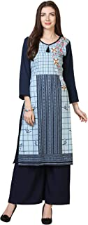 Florence Women's Crepe Straight Salwar Suit Set