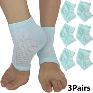 Moisturizing Socks for Cracked Heels - Aloe Socks to Treat Dry Feet Fast, Pain Relief for Rough Skin with Foot Lotion Spa Socks for Women Heel Repair & Mens Cracked Heel by ARMSTRONG AMERIKA (3 Pairs)