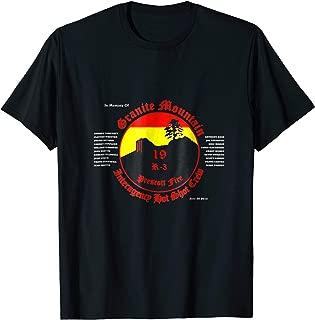Best granite mountain hotshots memorial shirt Reviews