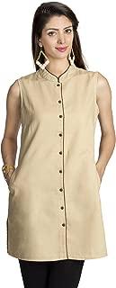MOHR Women's Tunic Shirt with Mandarin Collar