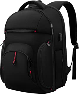Travel Laptop Backpack, 15.6 Inch TSA College School Computer Backpack with USB Charging Port, Water Resistant Durable Casual Daypack Business Laptop Backpack Bag for Men Women