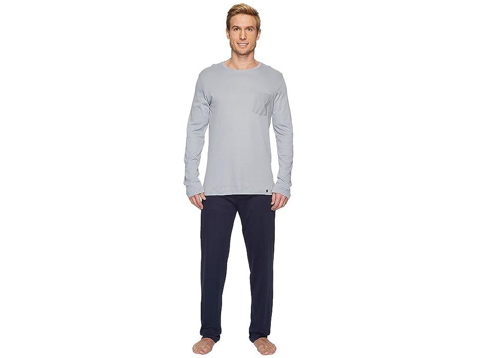 Hanro Night and Day Long Sleeve Pajama Set (Mineral) Men