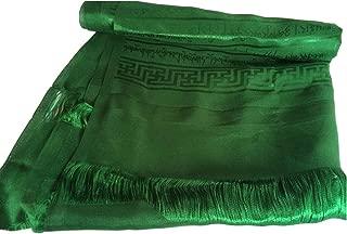 High Quality Tibetan Prayer Scarf Kata Green Color 8 Auspicious Symbols Ps-15