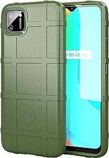 スマホケース OPPO Realme C11 ケース、耐衝撃アーマーシールドソフトTPUバンパーケース OPPO Realme C11(グリーン)