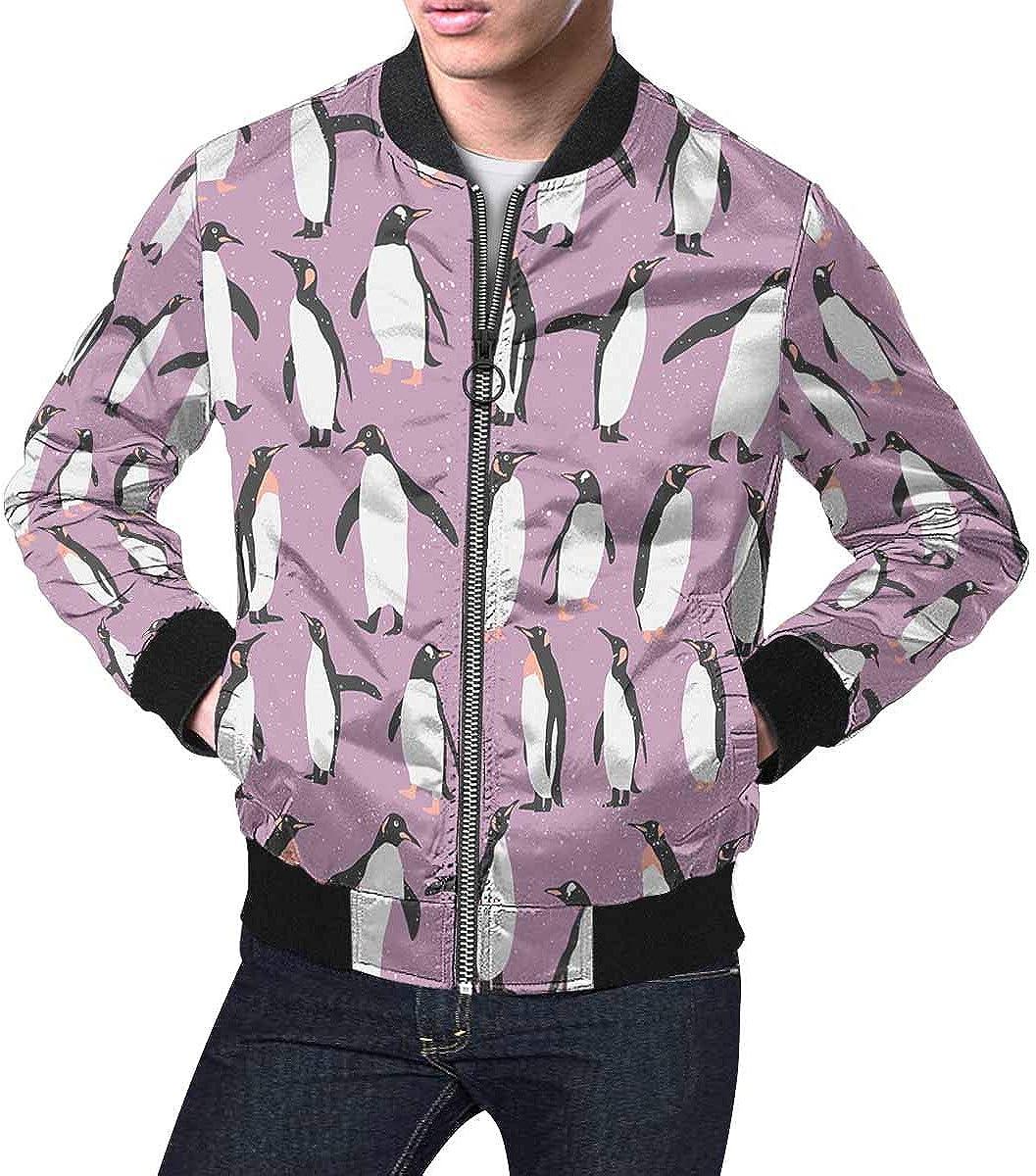 INTERESTPRINT Men's Stand Collar Jacket Sn Penguin with Patterns Tulsa Mall Mail order