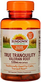 Sundown Naturals Herbal Supplement Valerian Root 530mg - 100 CT