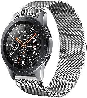 سوار Gear S3، سوار Galaxy Watch (46mm) Bands، 22 مم سوار بديل للسوار من الفولاذ المقاوم للصدأ لساعة Samsung Gear S3 Fronti...
