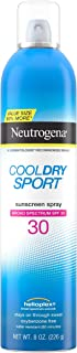 Neutrogena CoolDry Sport Sunscreen Spray, with Broad Spectrum SPF 30 UVA/UVB Protection, Sweat- & Water-Resistant, Oxybenzone-Free and PABA-Free with a Lightweight, Oil-Free Formula, 8 oz