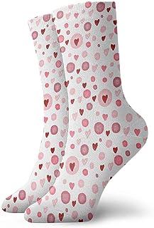 Luxury Calcetines de Deporte Cute Valentines Day Heart Unisex Funny Art 3D Print Casual Crew Socks Athletic Crew Socks