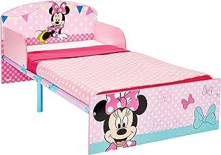 Disney Hello Home Cama Infantil con diseño de Minnie Mouse, Madera, Rosa, 42.50x77.00x143.00 cm