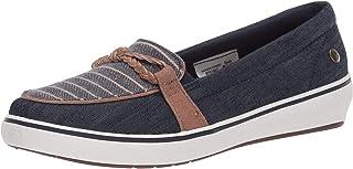 حذاء رياضي نسائي ماركة Grasshoppers مصنوع من قماش الدنيم المجدول ذو عقدة ويندسور، أزرق داكن، مقاس 6 أمريكي