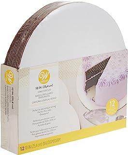 Wilton Cake Board, White, 10 Inch, WT-2104-102, 12 Pieces