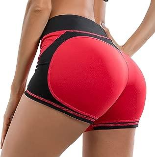 YOFIT Women Yoga Shorts Ruched Butt Sport Gym Push up Running Elastic High Waist Shorts Butt Lifting Hot Pants
