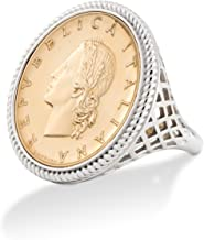 gold coin ring bezel
