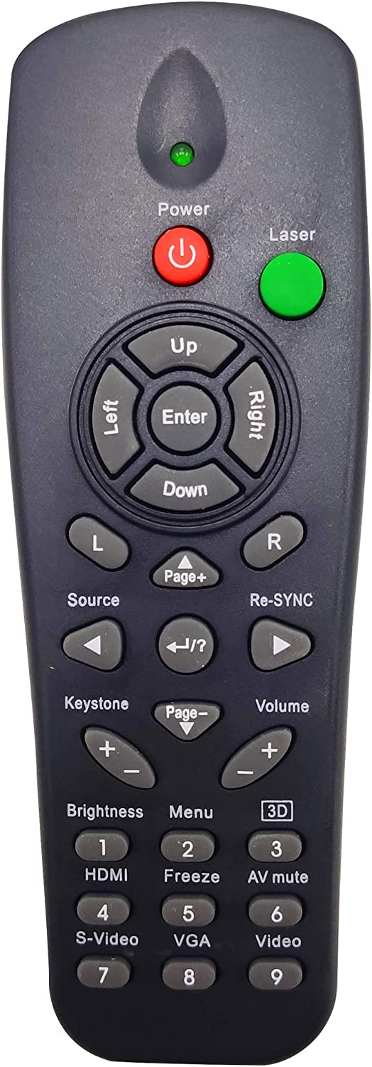 INTECHING BR-3036L Projector Remote Control for Optoma DS219, DS317, DS611, DX617, EP1691, ES520, ES522, ES526B, EX530, EX532, TS725, TX7155, TX735, EP761, TX761, TX763
