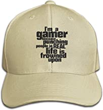 SunHinanime I Am A Gamer Humor and Funny Video Games Hatclassic Unisex Baseball Cap Adjustable Washed Dyed Cotton Ball Hat Black