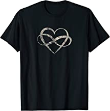 Infinite Love Infinity Heart Polyamory Vintage Aged T Shirt