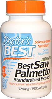 Best Saw Palmetto, 320 mg, 180 SoftGels by Doctors Best (Pack of 2)