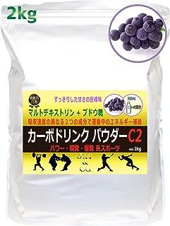 JAY&CO. カーボドリンク パウダー C2 (2kg) パワー 瞬発 爆発 系 マルトデキストリン + ブドウ糖 (巨峰)